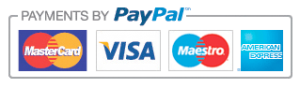 Payments by PayPal - MasterCard, Visa, Maestro, American Express accepted
