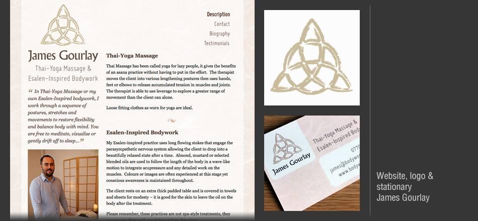 Website, logo and stationary for James Gourlay