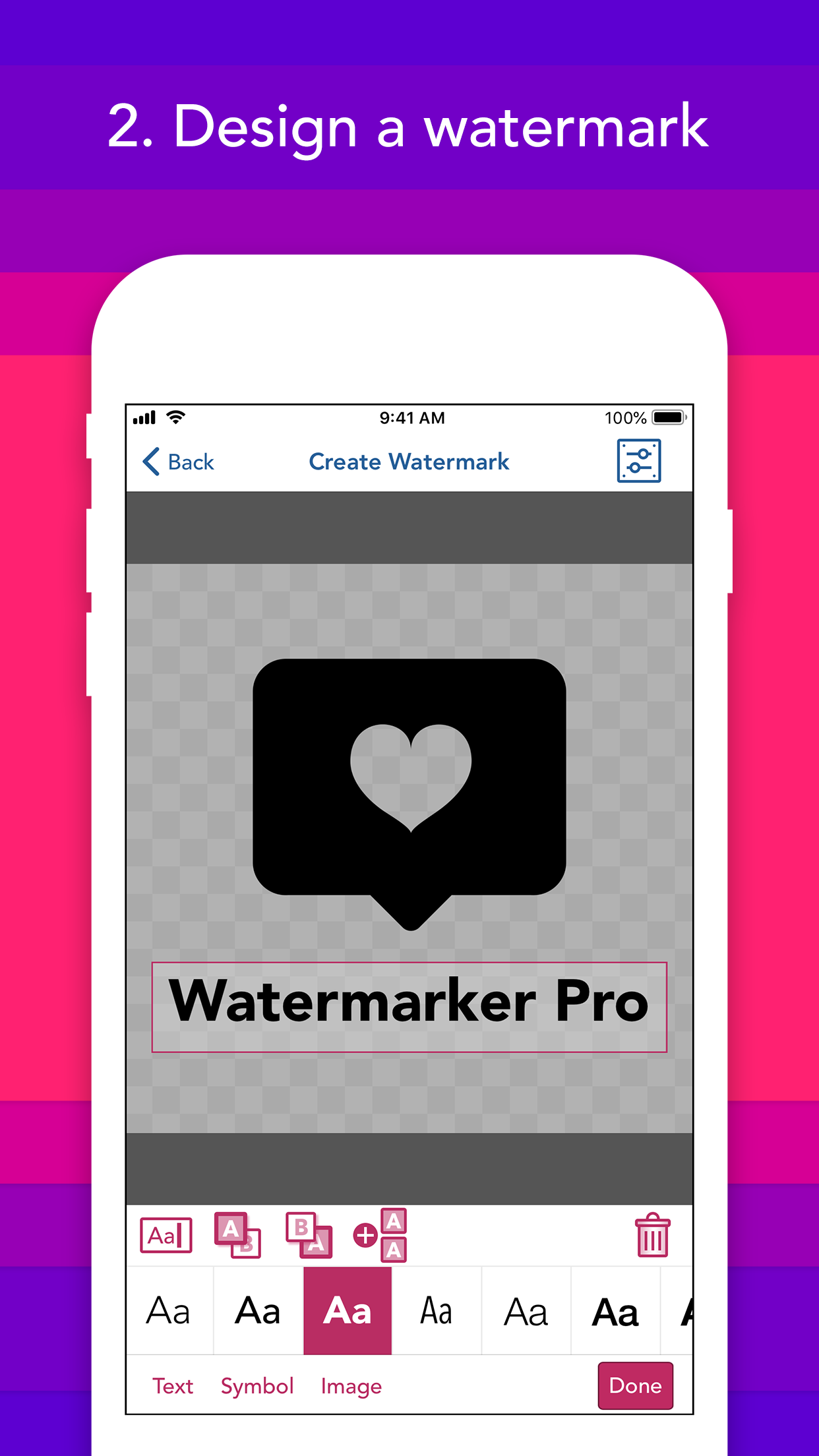 Create a watermark